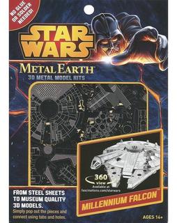 Star Wars Milennium Falcon Metal Earth 3d Model Kit