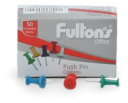 Pack 27 Chinche Push Pin Colores Surtidos 50 Un