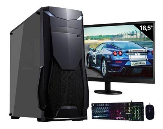 Pc Gamer Completo 8gb Hd 500gb R5 230 2gb Win10 Monitor