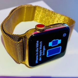 Gold Apple Watch Series 1 42mm Milanese Loop Stainless Steel