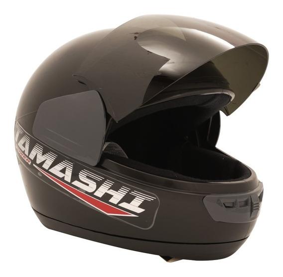 Casco Integral Vertigo Tamashi Para Moto Negro Brillo Yuhmak