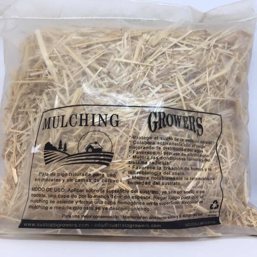Mulching Growers 400gr (paja De Trigo) Para Macetas