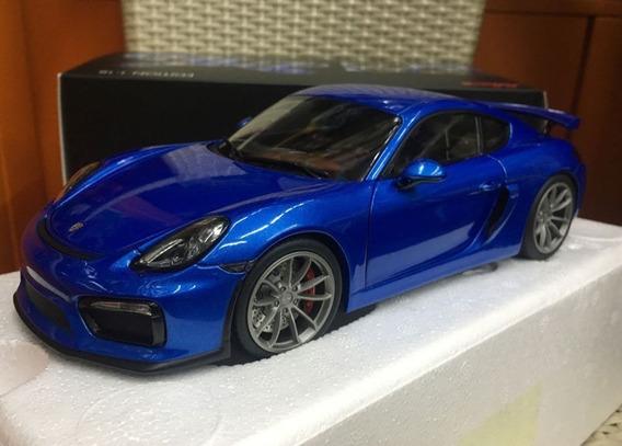 Miniatura Porsche Cayman Gt4 Blue Schuco 1/18