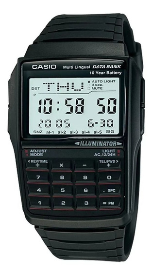 Relógio Casio Masculino Data Bank Calculadora Dbc-32-1adf