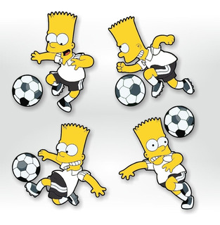 Adesivo De Parede- Futebol Bart Simpson Corinthians Simpsons