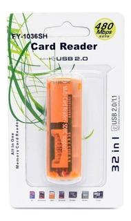 Card Reader Externo Usb Lector De Tarjetas Universal 32 En 1