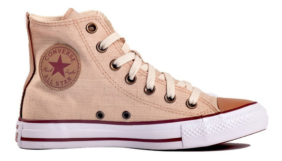 Botita Converse All Star Linen Natural Hi