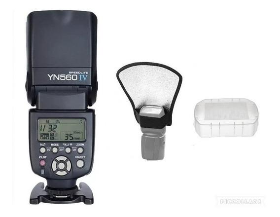 Flash Yn560iv P/canon E Nikon E Sony+difusor+rebatedor C/nf