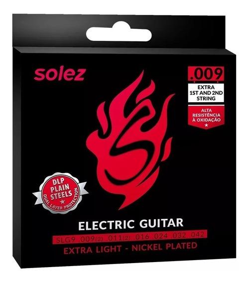 Encordoamento Corda De Guitarra Solez 09 Nickel Plated