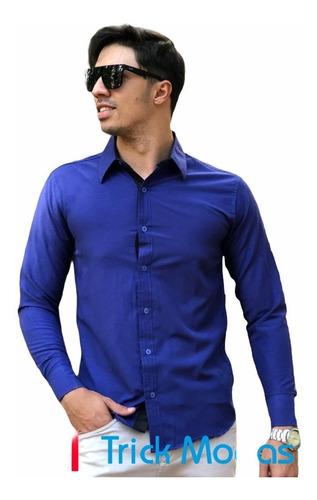 Imagem 1 de 1 de Camisas Social Masculina Slim - Atacado - Promoção Pp Ao Gg