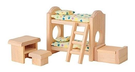 Plan Toy Doll House Dormitorio Para Niños - Estilo Clásico