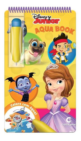 Livro Aquabook Disney Junior Pinta Com Água Culturama