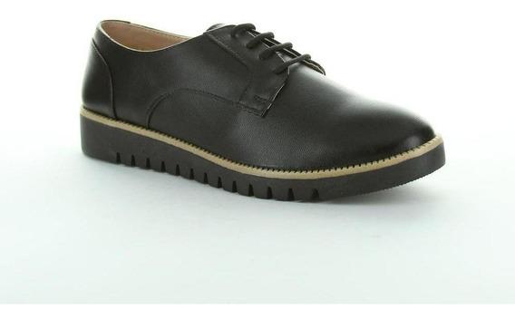 Zapato Cerrado Caramel Mujer Negro Tipo Napa 602