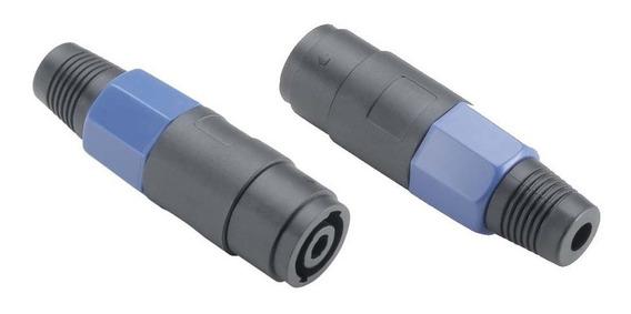 Conector Plug Speakon Skp 4 Polos Femea De Linha Fs4w Par