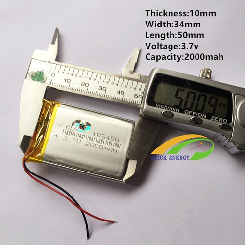 10   Bateria 3,7v 2000 Mah