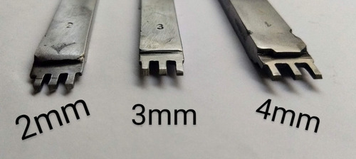 Imagen 1 de 3 de Herramienta Tenedor Marcador Puntadas Cuero 3 Mm 5 Dientes