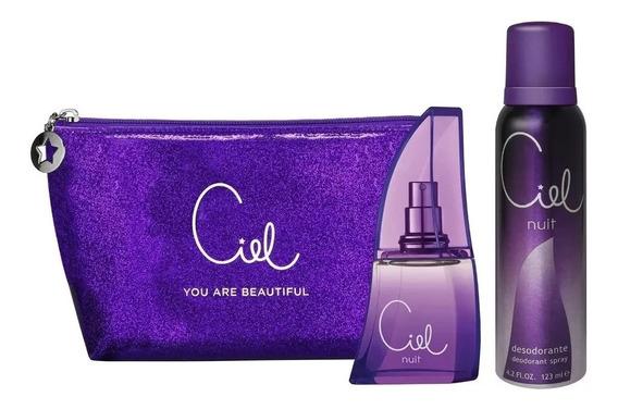 Perfume Mujer Ciel Nuit Edp 50ml + Desodorante + Neceser