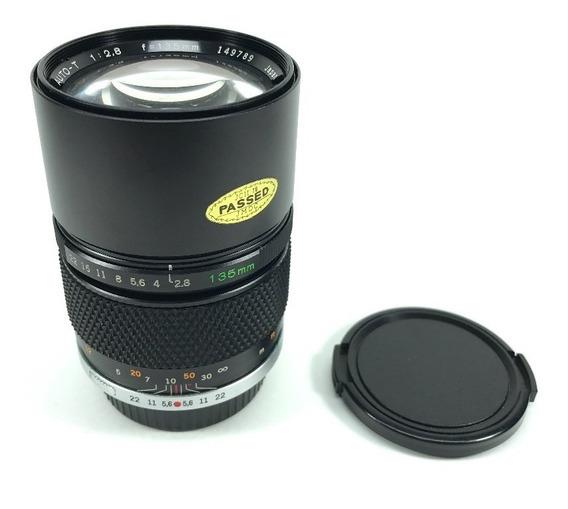Lente Olympus 135mm 2.8 Om Linda! P/ Sony Nikon Canon Etc