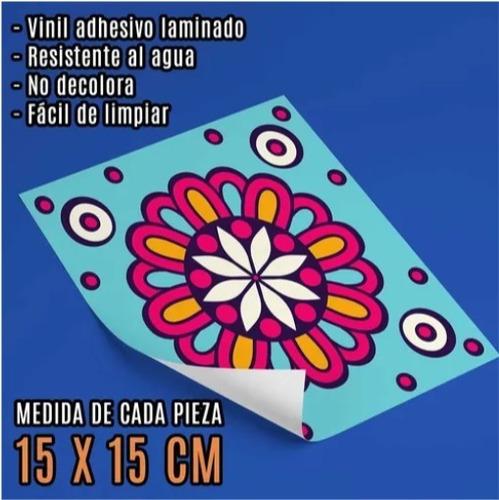 Azulejos Adhesivos Mandalas Mosaicos 20 Unidades 15 X 15