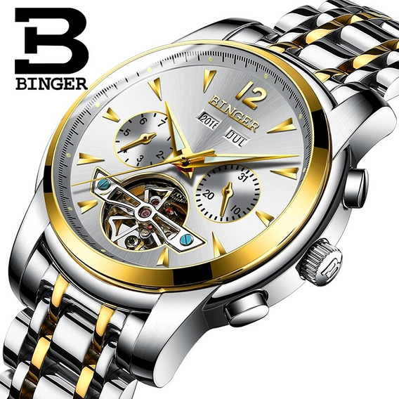 Relógio De Luxo Binger Automático