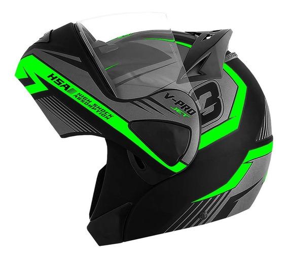Capacete Moto Robocop Escamoteavel Pro Tok V-pro Jet 3