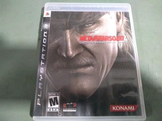 Jogo Seminovo Metal Gear Solid 4 Para Ps3 Pronta Entrega!!!