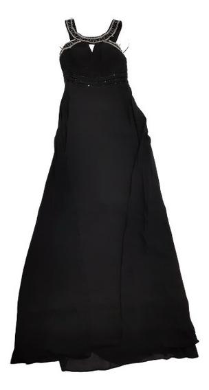 Importante Vestido De Fiesta Importado Lentejuelas Semielast
