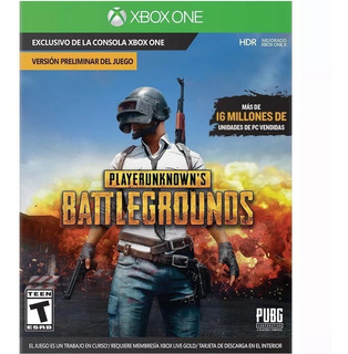 Playerunknown Battlegrounds Xbox One Tarjeta Descarga Fisica