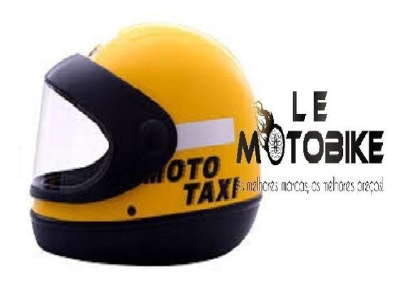 Capacete Interlagos Moto Amarelo Taxi Tam 60 Gow