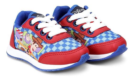 Tênis Infantil Disney Toy Story Azul E Vermelho