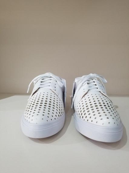 Zapatillas Ferraro Chipre Blanca Cuero Zapato Mujer