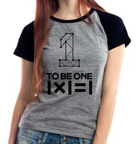 Camiseta Wanna One To Be One Kpop Babylook Mescla