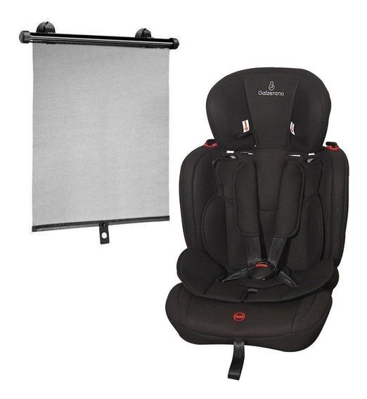 Cadeira Bebê Carro Galzerano Dorano Preta 9 - 36kg + Brinde