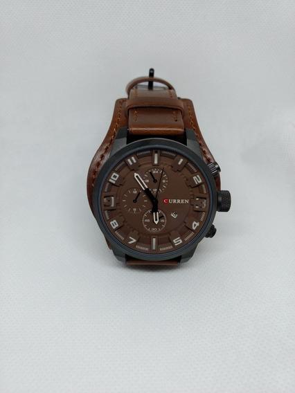 Relógio Masculino Curren - Original - Pulceira Em Couro