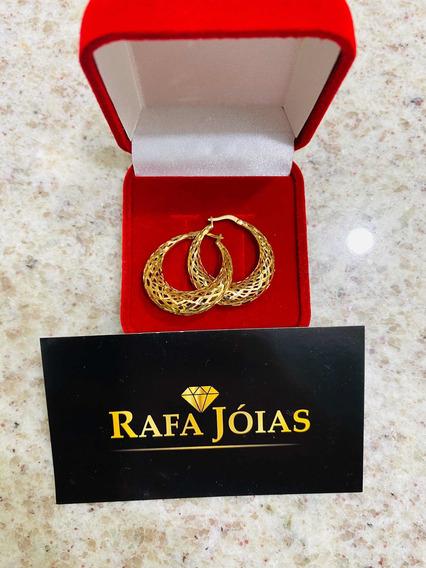 Brincos De Argola Em Ouro 18k 750 Com Certificado E Gara