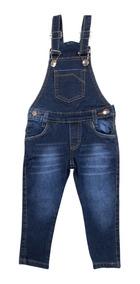 Jardineira Calça Macacao Jeans Masc Menino Tam 1 2 3 4 6 8