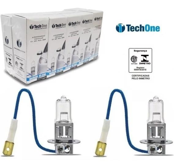 Kit 10 Lampada Halogena H3 3000k 12v 55w Techone
