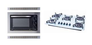 Kit Forno De Embutir 45l E Cooktop 5q Branco Safanelli 110v
