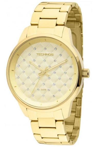 Relógio Technos Feminino Dourado Fashion Trend 2035lxu/4d