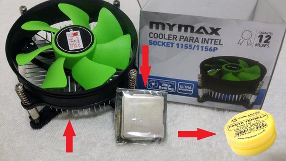 Proce. Dual Core 2°geração-g840 2.80 Ghz 1155 +cooler +pasta