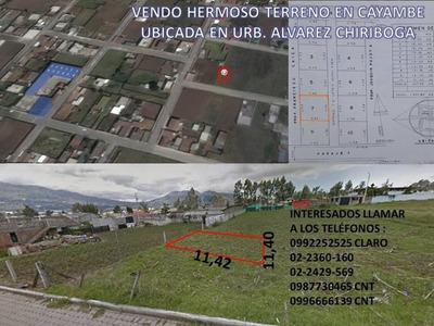 Vendo Hermoso Terreno Urbanización Urb. Alvarez Chiriboga