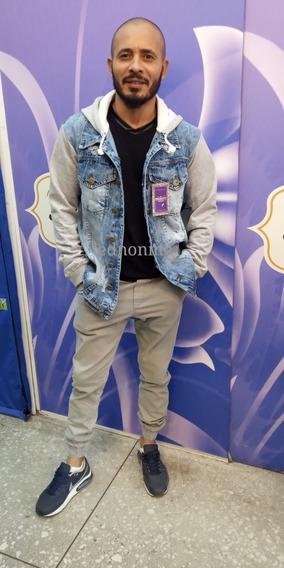 Jaqueta Masculina Jeans Casaco Rasgada Moda 2019 Grossa
