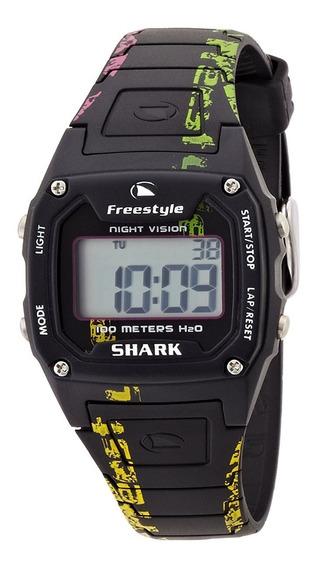Relógio Fs81287 Digital Shark Graffit Black Freestyle