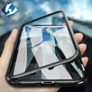 Capa Case Magnético Metal Bumper Vidro 9h iPhone 6 | 6 Plus
