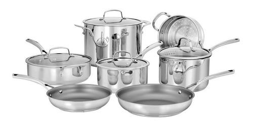Imagen 1 de 6 de Batería De Cocina De Acero 11 Piezas Cuisinart 95-11es