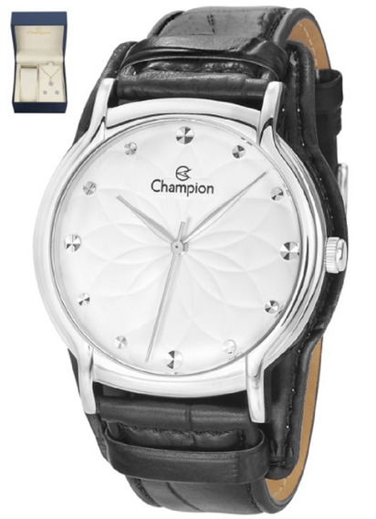 Kit Relógio Champion Feminino Colar E Brinco Cn20364c Oferta