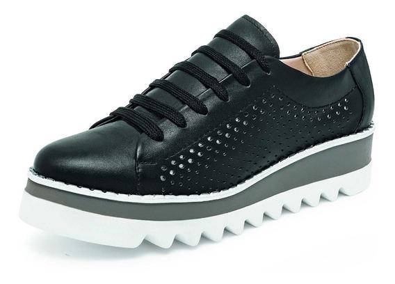 Zapato Casual Para Dama Negro Y Blanco Marca Vicenza 9154