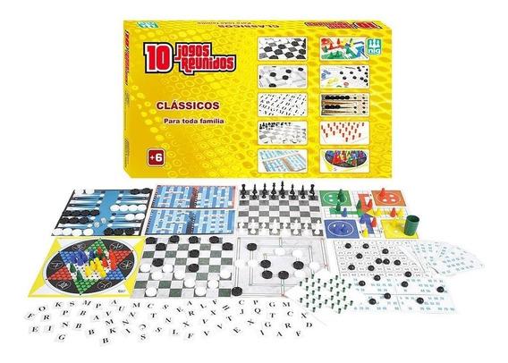 Jogo De Tabuleiro 10 Super Jogos Classicos Nig 1163