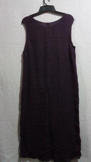 Vestido Largo Hindú Talle Xl Color Uva Nuevo