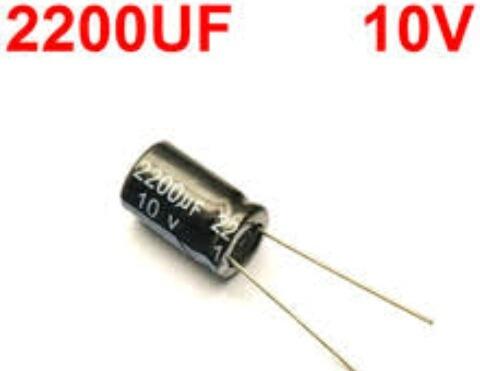 Capacitor Eletrolíticos 2200uf 10v 5 Unidade